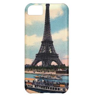 Viaje del vintage de París Francia de la torre Eif Funda Para iPhone 5C