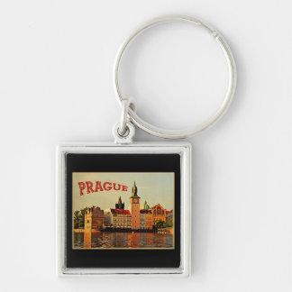 Viaje del vintage de Praga Llavero