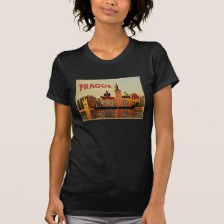 Viaje del vintage de Praga Camiseta