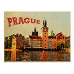Viaje del vintage de Praga Postales