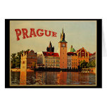 Viaje del vintage de Praga Tarjetón