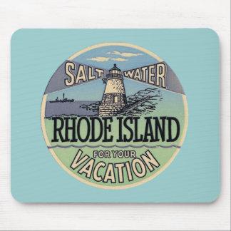 Viaje del vintage de Rhode Island Alfombrilla De Ratones
