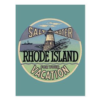 Viaje del vintage de Rhode Island Tarjetas Postales
