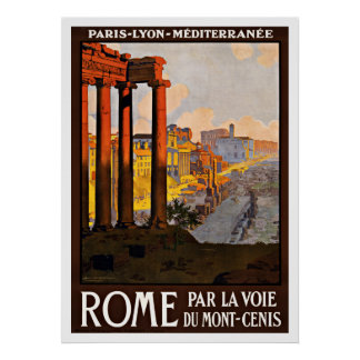 Viaje del vintage de Roma Italia Poster
