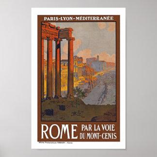 Viaje del vintage de Roma Italia Póster