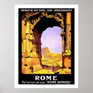 Viaje del vintage de Roma Póster