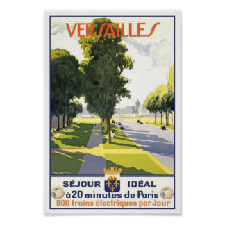 Viaje del vintage de Versalles Francia Impresiones