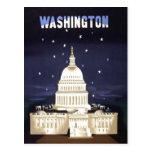 Viaje del vintage de Washington Tarjeta Postal