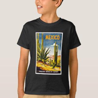 Viaje del vintage del cactus de México Playera