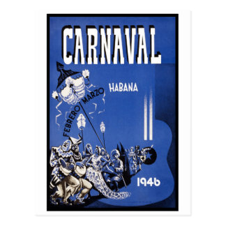 Viaje del vintage del carnaval 1946 de La Habana Postales