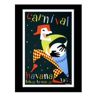 Viaje del vintage del carnaval de La Habana Postales