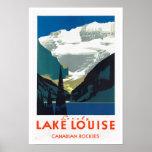 Viaje del vintage del ~ de Rockies del canadiense Poster