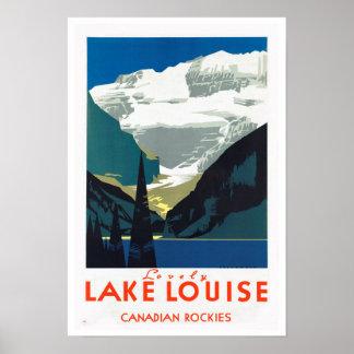 Viaje del vintage del ~ de Rockies del canadiense Póster