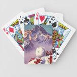 Viaje del vintage del esquí de Villars Chesieres S Barajas De Cartas