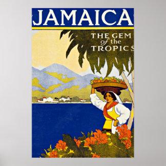 Viaje del vintage del mar del Caribe de Jamaica Posters