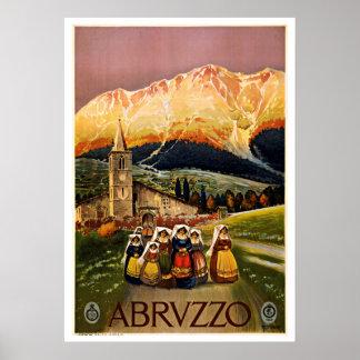 Viaje del vintage del parque nacional de Abruzos Posters