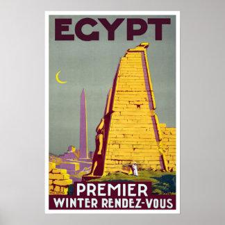 Viaje del vintage, Egipto Póster