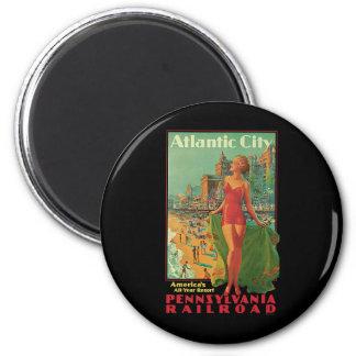 Viaje del vintage; El centro turístico de Atlantic Imán Redondo 5 Cm