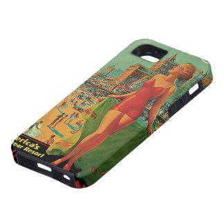 Viaje del vintage; El centro turístico de Atlantic iPhone 5 Carcasas