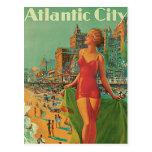 Viaje del vintage; El centro turístico de Atlantic Postal
