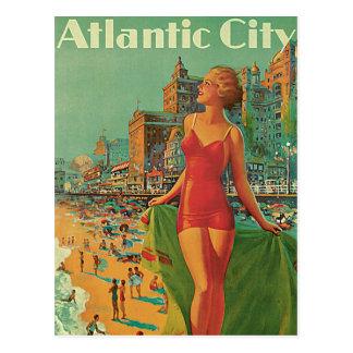 Viaje del vintage El centro turístico de Atlantic Postales