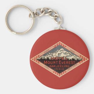 Viaje del vintage, el monte Everest, Darjeeling la Llavero Redondo Tipo Pin