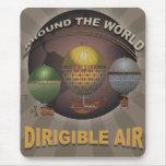 Viaje del vintage el mundo a bordo del aire alfombrilla de ratón