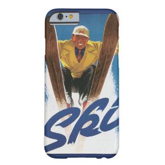 Viaje del vintage, esquí del esquiador de los funda barely there iPhone 6