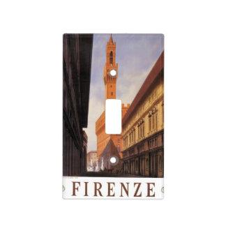 Viaje del vintage Firenze Florencia Palazzo Vec Placa Para Interruptor