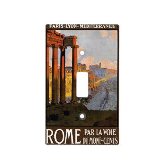 Viaje del vintage foro romano de Roma Italia en e Cubierta Para Interruptor