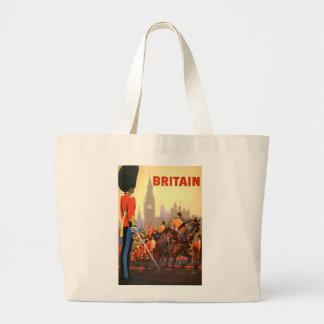 Viaje del vintage, Gran Bretaña Inglaterra, Bolsa Tela Grande