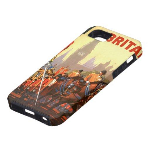 Viaje del vintage, Gran Bretaña Inglaterra, iPhone 5 Protector
