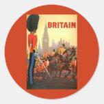 Viaje del vintage, Gran Bretaña Inglaterra, Etiqueta Redonda