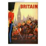 Viaje del vintage, Gran Bretaña Inglaterra, Tarjeta De Felicitación