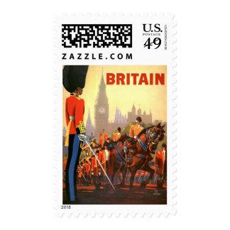 Viaje del vintage, Gran Bretaña Inglaterra, Timbre Postal