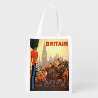 Viaje del vintage, Gran Bretaña Inglaterra, Bolsas Para La Compra