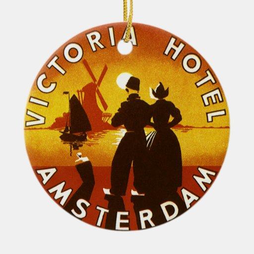 Viaje del vintage, hotel de Victoria, Amsterdam, H Ornatos