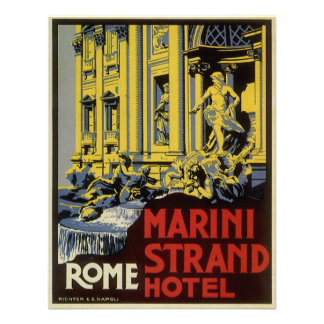 Viaje del vintage hotel del filamento de Marini Comunicados Personalizados