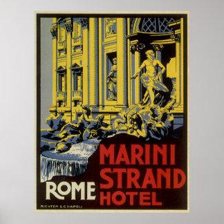 Viaje del vintage, hotel del filamento de Marini, Posters