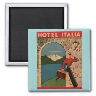 Viaje del vintage - hotel Italia Imán Cuadrado