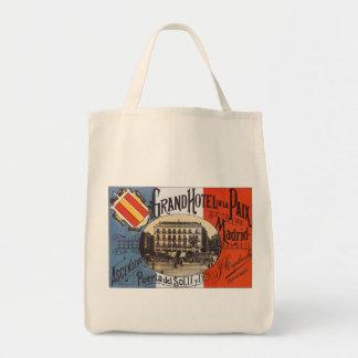 Viaje del vintage, hotel magnífico Paix, Madrid, Bolsa Tela Para La Compra