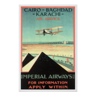 Viaje del vintage, Imperial Airways Póster