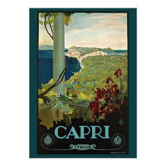 Viaje del vintage isla costa de Capri Italia Ita Anuncios