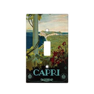 Viaje del vintage isla costa de Capri Italia Ita Placas Para Interruptor