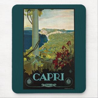 Viaje del vintage, isla costa de Capri, Italia Mousepad