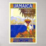 Viaje del vintage, Jamaica Póster