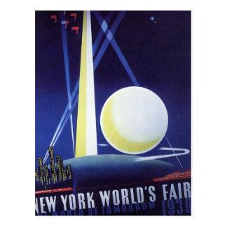 Viaje del vintage, la feria de mundo de New York Tarjetas Postales