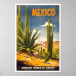 Viaje del vintage, México Póster