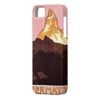 Viaje del vintage, montaña de Cervino, Suiza iPhone 5 Carcasas