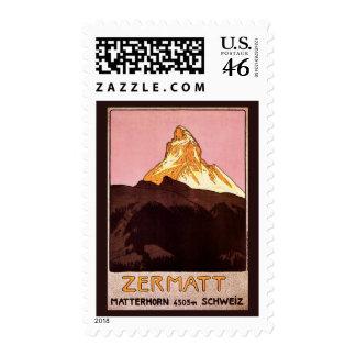 Viaje del vintage montaña de Cervino Suiza